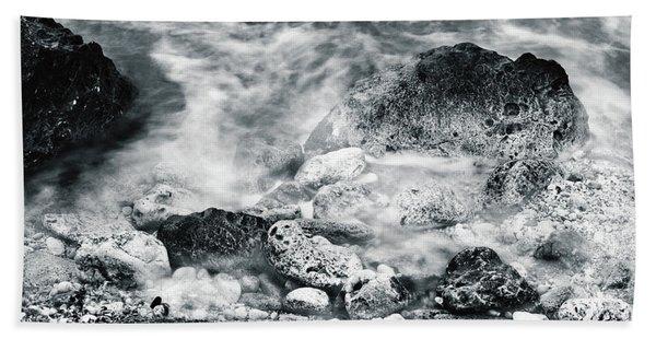 Water Rocks Bath Towel