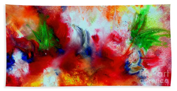 Watercolor Abstract Series G1015a Bath Towel