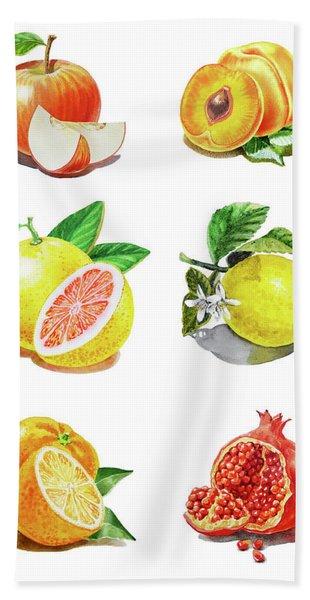 Watercolor Food Illustration Fruits Hand Towel