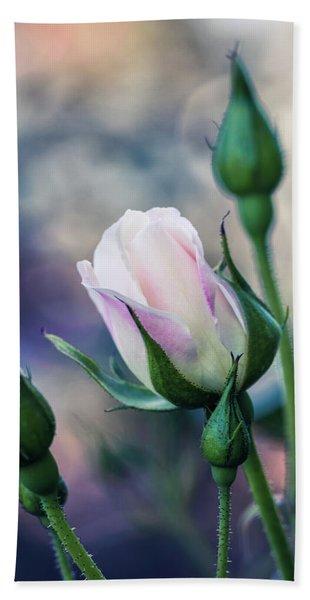 Watercolor Rose Hand Towel