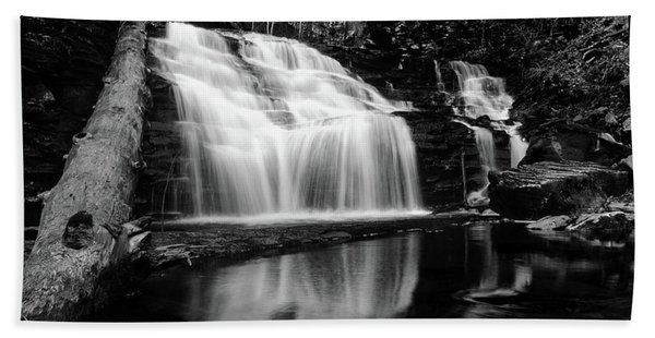 Waterfall Reflection Hand Towel