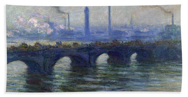 Waterloo Bridge, London, 1900 Hand Towel