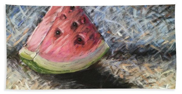 Watermelon Slice Hand Towel