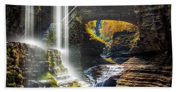 Hand Towel featuring the photograph Watkins Glen State Park by Mihai Andritoiu