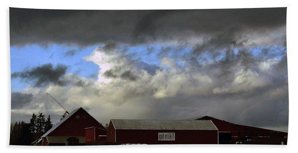 Weather Threatening The Farm Bath Towel