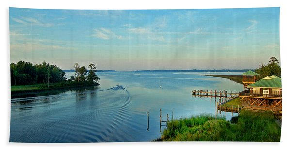 Weeks Bay Going Fishing Bath Towel