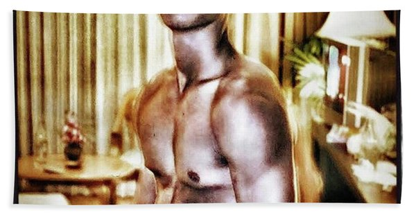 Bath Towel featuring the photograph Weerawat. We For Short. A Kickboxer And by Mr Photojimsf
