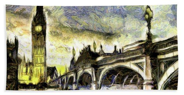 Westminster Bridge Van Gogh Bath Towel