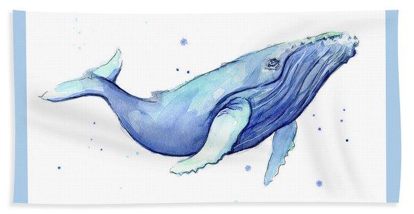 Whale Watercolor Humpback Bath Towel