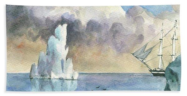Whaler On Ice Bath Towel