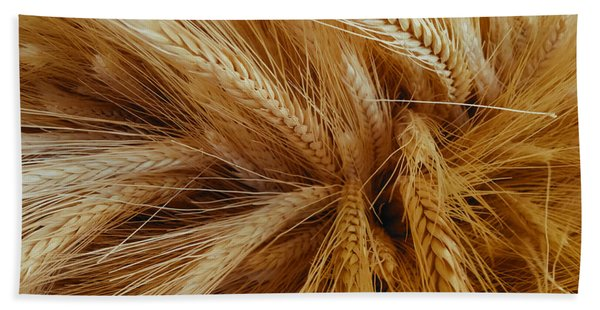 Wheat In The Sunset Bath Towel