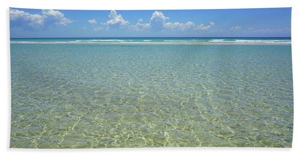 Where Crystal Clear Ocean Waters Meet The Sky Bath Towel