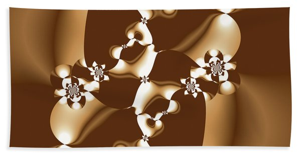 White And Milk Chocolate Fractal Hand Towel
