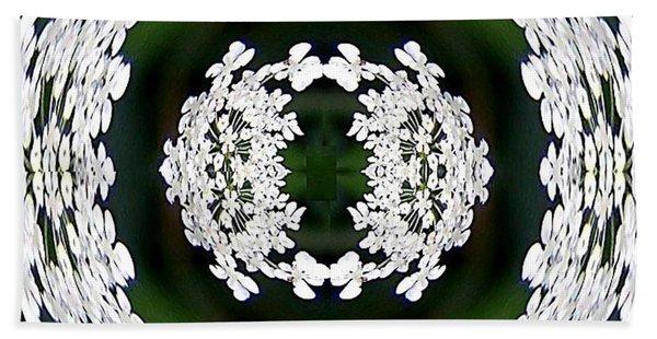 White Lace Bath Towel
