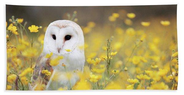 White Owl Hand Towel