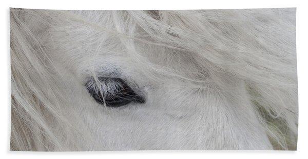White Pony Bath Towel