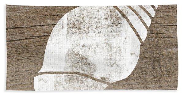 White Seashell- Art By Linda Woods Hand Towel