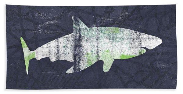 White Shark- Art By Linda Woods Hand Towel