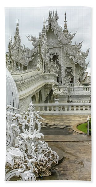 White Temple Thailand Bath Towel
