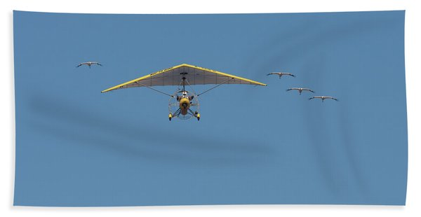 Whooping Cranes And Operation Migration Ultralight Bath Towel