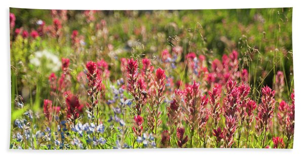 Wild About Wildflowers Bath Towel