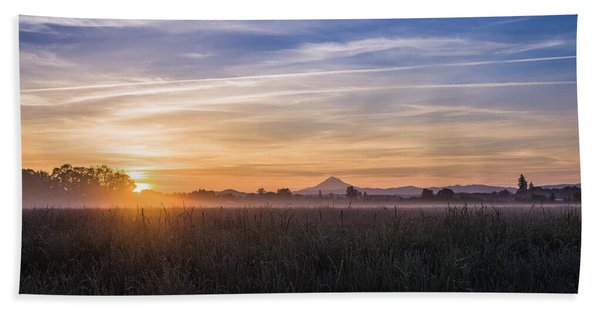 Willamette Valley Sunrise Hand Towel