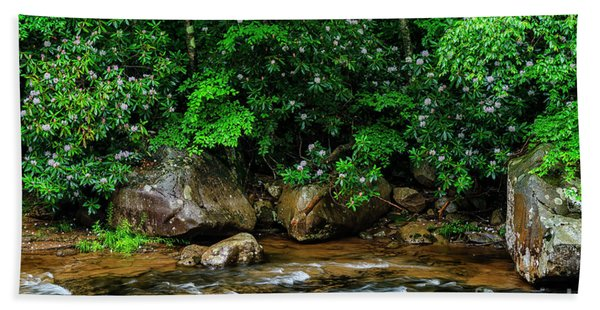 Williams River And Rhododdendron Bath Towel