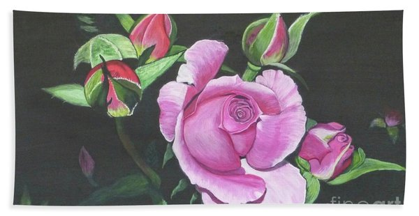 Will's Rose Hand Towel