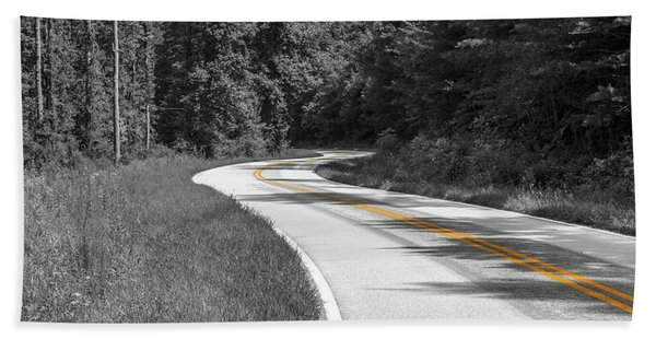 Winding Country Road In Selective Color Hand Towel