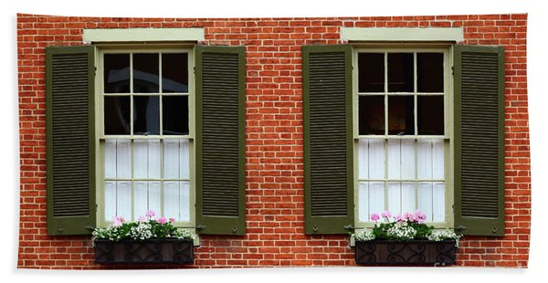 Windows And Shutters In Frederick Maryland Hand Towel