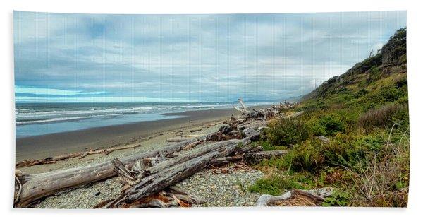 Windy Beach In Oregon Hand Towel