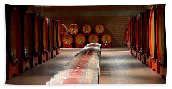 Wine Cellar In Montalcino Bath Towel