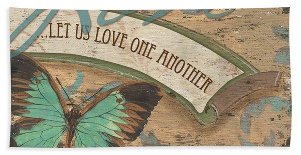 Wings Of Love Bath Towel