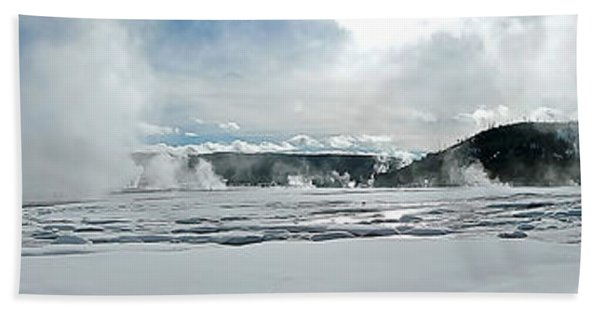 Winter At Grand Prismatic Hand Towel