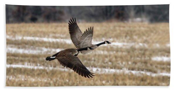 Winter Geese Hand Towel
