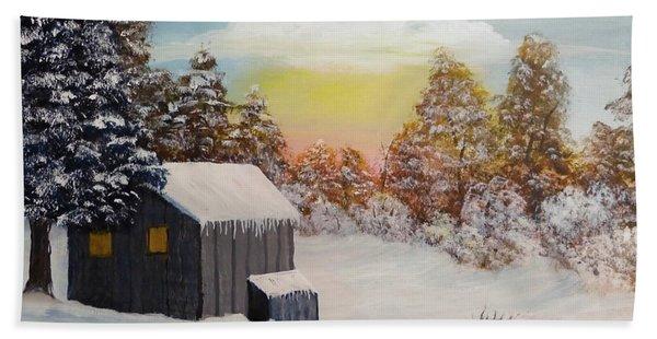 Winter Getaway Hand Towel