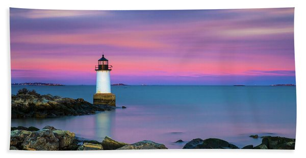 Winter Island Light 1 Hand Towel