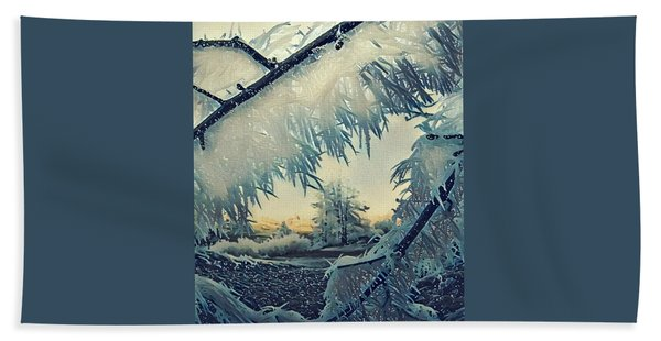 Hand Towel featuring the photograph Winter Magic by Colette V Hera Guggenheim