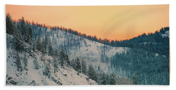 Winter Mountainscape  Hand Towel