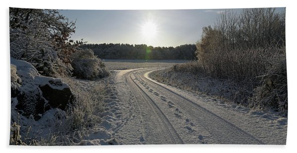 Winter Road Bath Towel