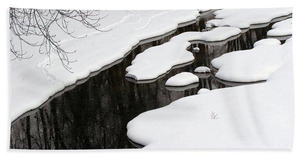 Winter Stream  Hand Towel