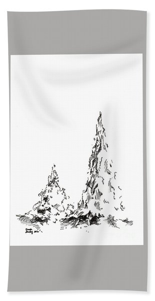 Winter Trees 2 - 2016 Hand Towel