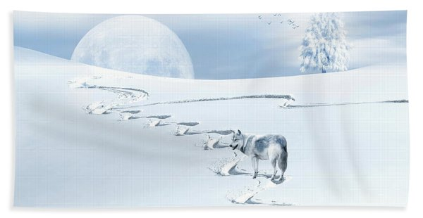 Winter Wonderland - Wolf Bath Towel
