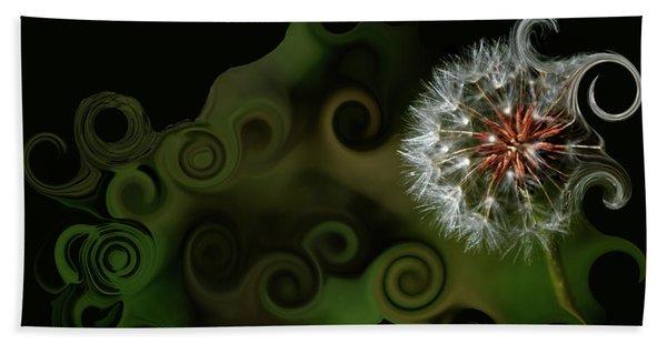 Wish Dandelion Art By Lesa Fine Bath Towel