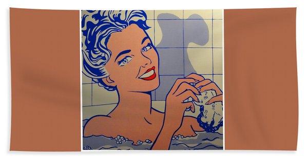 Woman In Bath Hand Towel