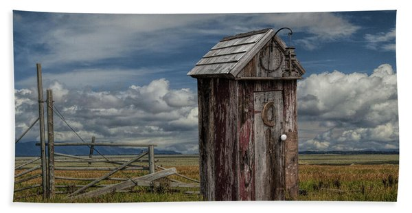 Wood Outhouse Out West Hand Towel