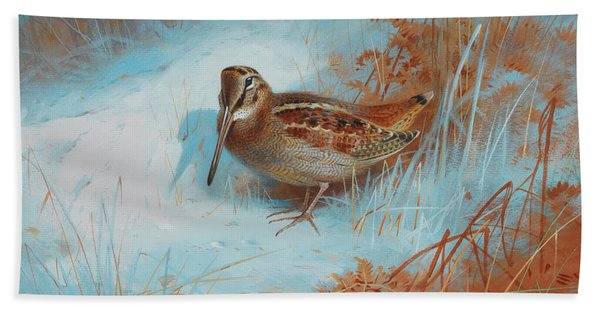 A Woodcock In The Snow Hand Towel