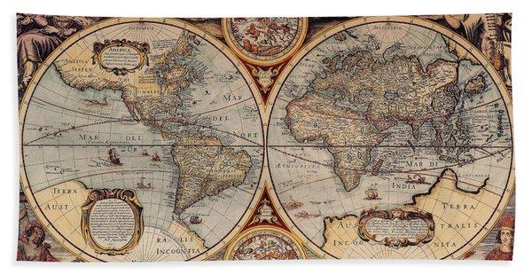World Map 1636 Bath Towel