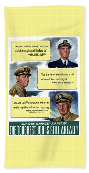 Ww2 Us Navy Admirals Hand Towel