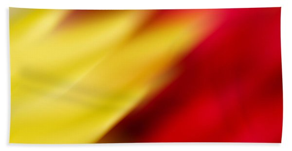 Yellow And Red Bath Towel
